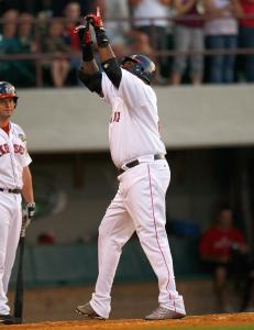 David Ortiz performed his familiar home run gesture Thursday and repeated it last night.