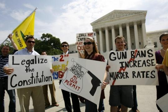 Supporters of gun rights gathered in June after the Supreme Court ruled that citizens can keep guns for self defense.