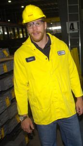 Bruin Shawn Thornton was a visitor last week, but in the summer of 1997 he was a worker at a steel plant.