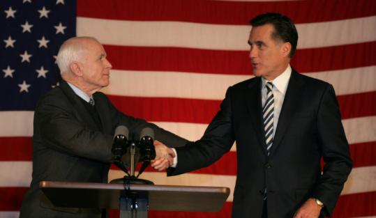 In February, Mitt Romney endorsed John McCain. Romney has made methodical inroads into McCain's confidence.