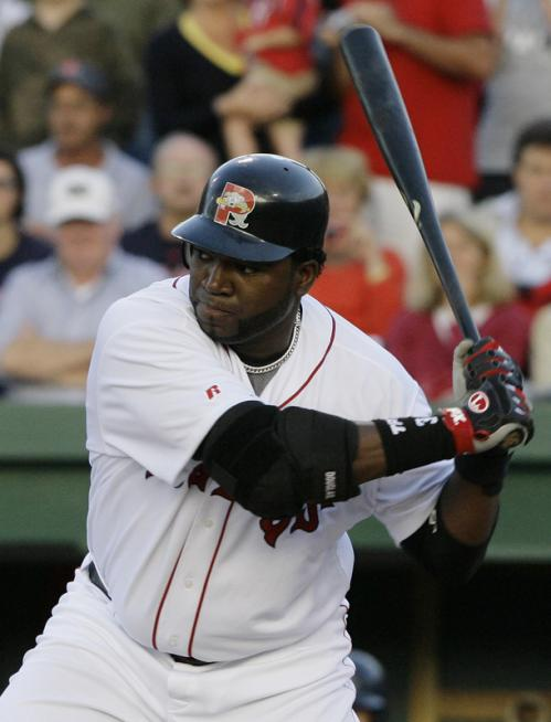 Before a capacity crowd of 7,368 at Hadlock Field, Ortiz showed no signs, and felt no symptoms, of the partially torn tendon sheath in his left wrist, which has kept him out of the Boston lineup since May 31.