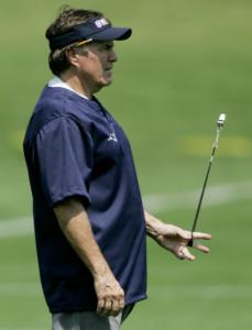 Bill Belichick often whistles while he works to drive home his message.