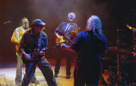 From left: Stephen Stills, Neil Young, Graham Nash, and David Crosby in 'CSNY Déjà Vu.'