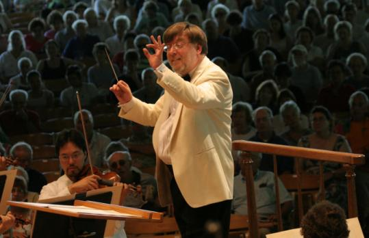 'The core of the piece is all these intimate scenes,' Sir Andrew Davis (shown with the BSO at Tanglewood in 2006) says of Tchaikovsky's 'Eugene Onegin.'