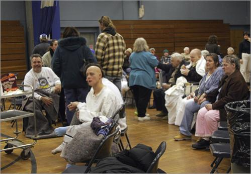 Residents were taken to Danvers High School and sheltered in the Vye Gym. People from New England Home for the Deaf and a neighboring group home were taken care of by the Red Cross.