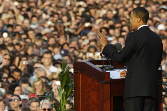 Barack Obama urged Europeans to join Americans to remake the world in his speech last week in Berlin. The speech drew more than 200,000 people.