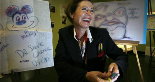 For the past six years, Delta flight attendant Jewel Van Valin has been handing out crayons to passengers.