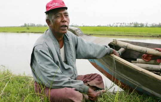 Ko Nyi Thaut, 53, who lost six of his children to the cyclone, explained the need for him to rush back to work in the rice field in order for his remaining three children and wife to survive.