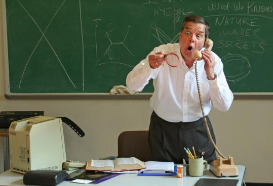 Keith Jochim as the brilliant and eccentric professor Richard Feynman in 'QED.'