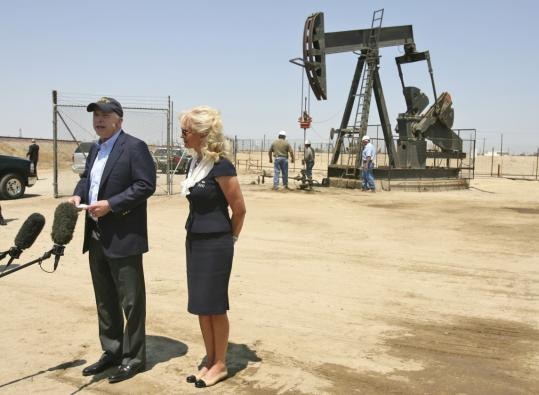Senator John McCain with his wife, Cindy, spoke about the procedure yesterday during a campaign visit to an oil rig. McCain said his doctor told him that he was doing fine.