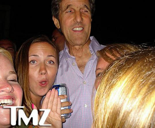 Senator John Kerry in one of the photos that TMZ posted online.