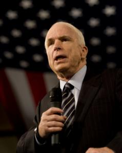 Senator John McCain spoke yesterday at a town hall meeting in Sparks, Nev.
