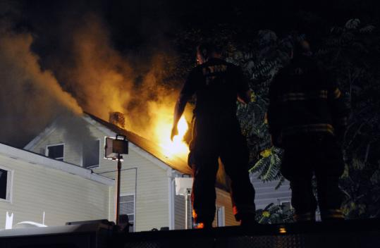 It took firefighters about 90 minutes to knock down the blaze that apparently started about 10 p.m. in a Lynn multifamily.