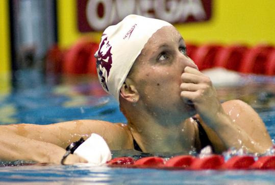 Jessica Hardy, who won the women's 100-meter breaststroke at the trials, tested positive for a banned substance and won't go to the Olympics.