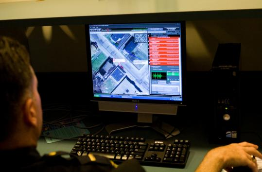 Lieutenant Harry Cataldo of the Boston police demonstrated how the city's $1.5 million ShotSpotter system works.