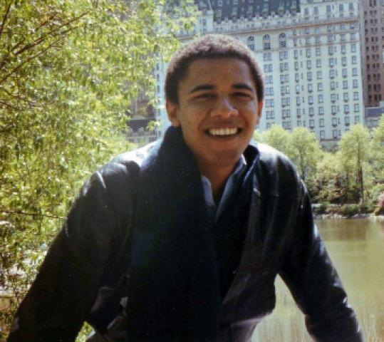 This undated photo shows Barack Obama while a student at Columbia.