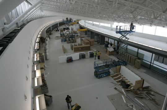 Security was a big concern at JetBlue's new terminal at JFK Airport, which opens Oct. 1. But it will also have a retail area and touch-screen stands passengers can use to order food that will be delivered to them at the gate.