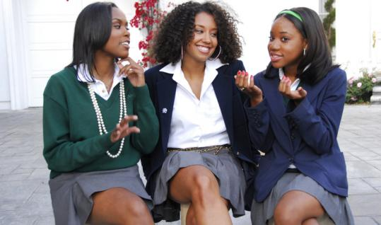 From left: Garnette, Willie, and Makenzy are three of the young people featured in BET's docu-reality series ''Baldwin Hills.''