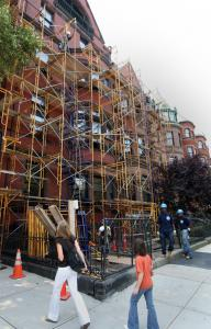The renovation of two buildings into a manse with 24,000 square feet of living space has Back Bay abuzz. Passersby invariably speculate about what extreme amenities the home might have.