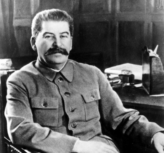 Stalin in 1950, three years after he ordered the execution of Cy Oggins (inset, circa 1947), a Soviet operative since 1928.