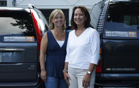 Anne London (left) and Deborah Smith were inspired by Smith's husband's run-in with a teen driver last fall.