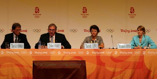 World Anti-Doping Agency director general David Howman and WADA officials John Fahey, Sarah Lewis, and Elizabeth Hunter spoke about the fight against doping in Beijing last week.