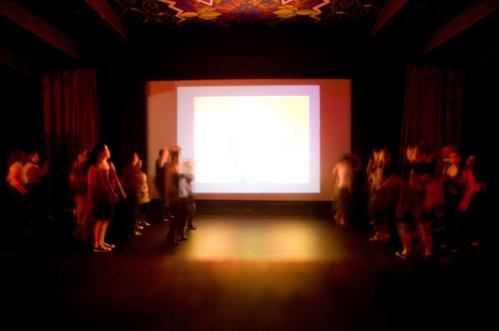 Dancers lined either side of Coolidge Corner Theatre's big screen, which played Madonna's music videos throughout the night. More info on Coolidge Corner Theatre SUBMIT Your nightlife photos! TALK What scene should we visit next?