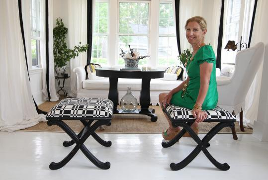 Fashion designer transforms Nantucket home - The Boston Globe