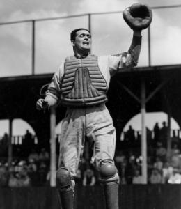 Red Sox catcher Moe Berg, on field in 1938, was known to have served OSS.