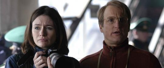 Emily Mortimer and Woody Harrelson in ''Transsiberian.''