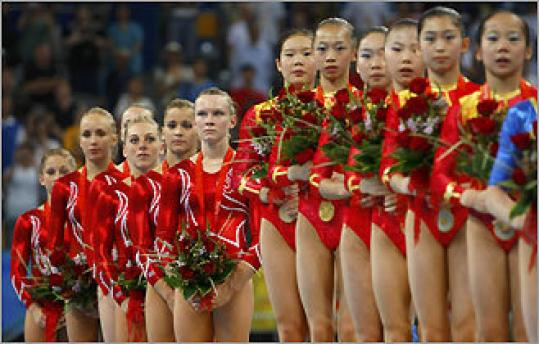 china, olympics, women's gymnastics
