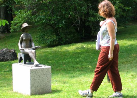Kahlil Gibran's sculpture, ''Seated Ceres,'' was taken from the Contemporary Sculpture Path in the last week.