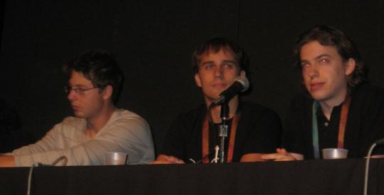 From left, Alessandro Chiesa, R.J. Ryan, and Zack Anderson face a hearing tomorrow over a project they developed they contend hacks into the MBTA's automated fare-collection system.