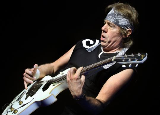 George Thorogood (above) and Buddy Guy were at the Hot Stove Cool Music show last night.