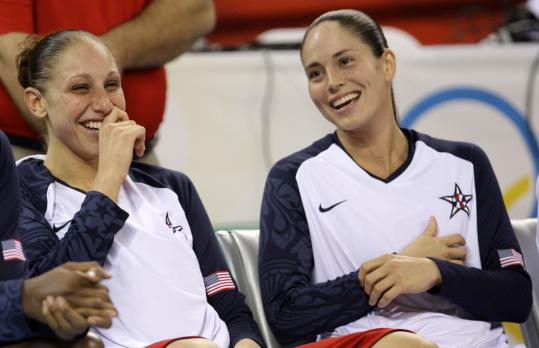 Diana Taurasi (left) is considered the more outgoing one, but the personalities of she and good friend Sue Bird (right) aren't that much different.