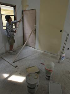 Luis Rodriguez is renovating a three-family on Hendry Street that he bought from foreclosure.