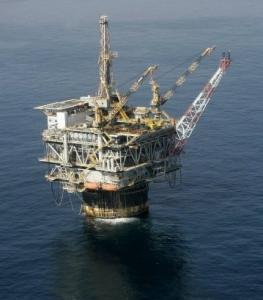 Tthe Chevron Genesis oil platform in the Gulf of Mexico.