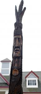 ''Enisketomp'' is Wampanoag for human being, and the name of Peter Wolf Toth's sculpture on Route 3 in Plymouth.