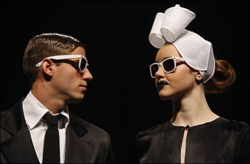Models display creations from Argentine designer Pablo Ramirez during Buenos Aires Fashion Week, August 20 , 2008.