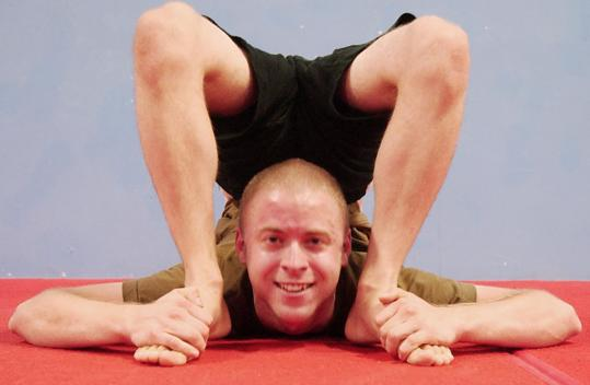 Binghamton University graduate Chris Oakley, 23, gradually meandered from yoga, to self-taught stretches, to full-blown contortionism.