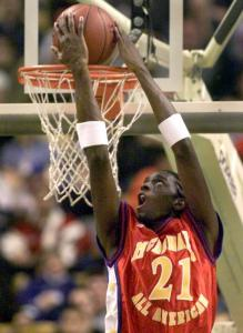 Darius Miles made an impression as a high school star when the McDonald's Classic was held at the FleetCenter in 2000.