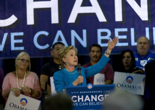 Hillary Clinton campaigned for Barack Obama last week in Espanola, N.M., one of the events she has held for her ex-rival.