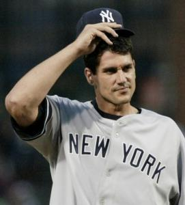 The Yankees' oft-injured Carl Pavano pitched five innings to earns his first victory in over a year.