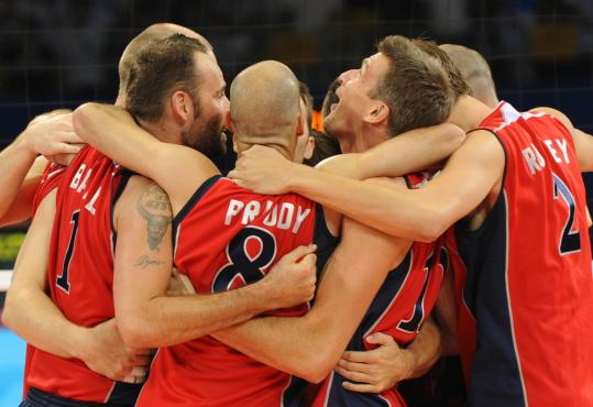 A group hug was in order after the US dispatched Olympic favorite Brazil to win the gold medal.