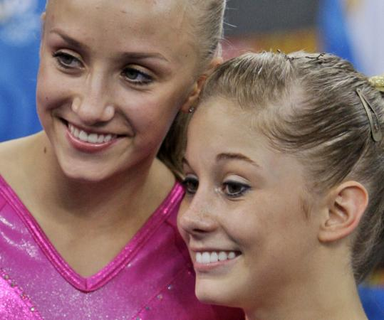 All-around brilliant Nastia Liukin (left) and Shawn Johnson were the faces of US gymnastics.