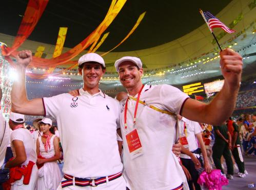 Athletes from the United States are seen during the Closing Ceremony.