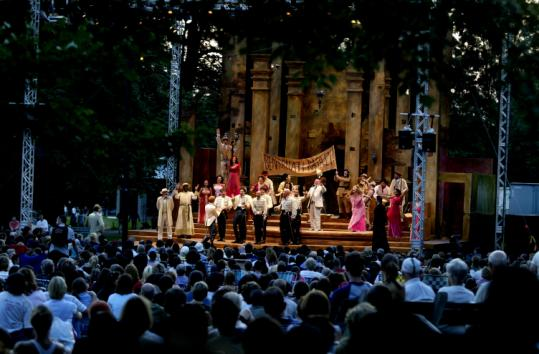 Thousands of people attended ''Much Ado About Nothing'' in 2004. Citi Center, which sponsored the show, has decided not to continue its financial support.