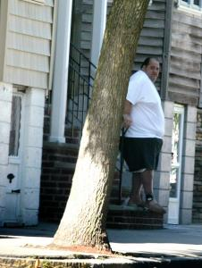 Carmen ''The Cheese Man'' DiNunzio was wearing an ankle monitor when he went out to get a newspaper yesterday.