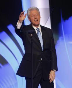 Former president Bill Clinton vouched for Barack Obama's credibility on national security issues last night.