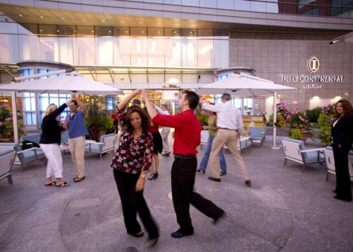 Leave those left feet on the sidelines: Dancers took to the patio for a quick salsa lesson. More info on Sushi-Teq SUBMIT Your nightlife photos! TALK What scene should we visit next?